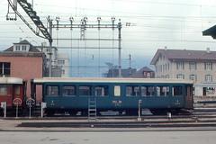Chur - Rhtische Bahn Car (roger4336) Tags: railroad station train schweiz switzerland bahnhof chur rhb graubnden grisons rhtischebahn rhatischebahn