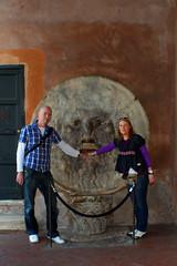 Linda & me (Thomas Remmer) Tags: rome della bocca verita