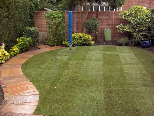 Indian Sandstone Patio and Lawn Image 19