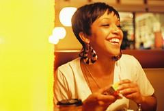 Ashley Sunshine (lola smalls) Tags: color film yellow graffiti ashley graf muse lightleaks 35mmfilm pbr analogphotography minoltasrt101 pabstblueribbon photographerhadiyahdaché