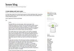 boxee blog » a lively debate with mark cuban_1238148216405