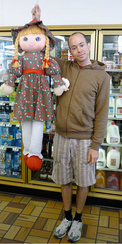 Me and my gas station doll