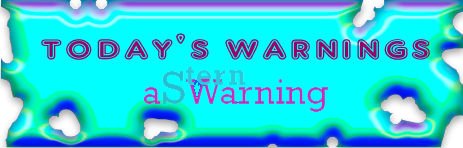 Today's Warnings