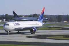 Delta Airlines Boeing 767-332 N125DL (Flightline Aviation Media) Tags: atlanta airplane airport atl aircraft aviation jet delta boeing airlines 767 canond30 stockphoto 767300 767332 katl hartsfieldjacksoninternational n125dl bruceleibowitz