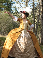 Golden robe a la franaise (#sayonara) Tags: madame marie century la dress robe silk 18th antoinette pompadour gown franaise madamoiselle silberklang