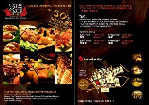 Yaki Yaki Japanese Barbeque Buffet Restaurant Promotion @ Next to Lowyat Plaza