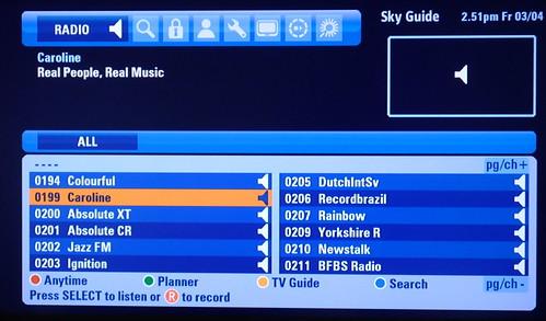 Sky+HD EPG 4 - Listening