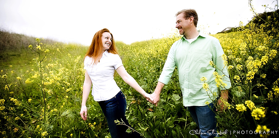 mustard fields engagement session