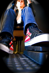 Pedal to the Metal (Tomitheos) Tags: portrait feet speed shoes flickr driving avatar picture optical pic daily sneakers photograph kicks capture now today redwhiteandblue nikondigital 2009 chucks runningshoes malemodel driversseat stockphotography sundaydriver sportshoes fastandfurious gymshoes gaspedal footgear redwhitestripes professionalphotographers petaltothemetal φωτογραφία bytomitheos cockpitperspective usaflagshoes redwhiteandblueshoes gaspedalmacro creativeartdirection eddievanhalenshoes eddievanhalenstripedsneakers