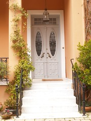 House in kifissia with wooden door (g_athens [swaping]) Tags: door house stairs entrance athens greece   kifisia  kifissia