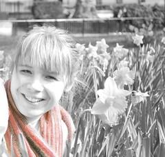 scarfe (johne1981) Tags: park flowers color colour girl smile grass hair spring nikon pretty teeth scarfe selective d60