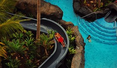 Above (lunkerbuster808) Tags: travel people nature water pool outdoors island hawaii place slide kauai handheld photoshopelements d40 sheratonwaikiki