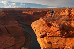Sunset over Horseshoe Bend (newWanderer) Tags: light red arizona usa nature yellow sandstone surreal page geology navajo coloradoplateau horseshoebend
