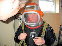 Steamy windows!! (Odyssey Dive Centre) Tags: west hat modern manchester centre north helmet dive hard scuba diving commercial 09 stockport chamber april odyssey sk8 hulme cheadle recompression
