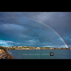 "Rainbow [""Happy Earth Day""] ([ Rodelicious ]) Tags: ocean trip travel blue light sea vacation sky plants sun seascape color colour art beach nature beautiful beauty clouds contrast photoshop canon landscape geotagged photography boat photo rainbow exposure dof photos manly australia brisbane queensland pk canoneos hdr highdynamicrange hdri earthday blending waterscape rodel sigma1020mm panoramicview photomatix tonemap canonxti colorphotoaward aplusphoto pinoykodakero colourartaward perfectescapes rodelicious alemdagqualityonlyclub ifolio garbongbisaya rodeljoselitomanabat"