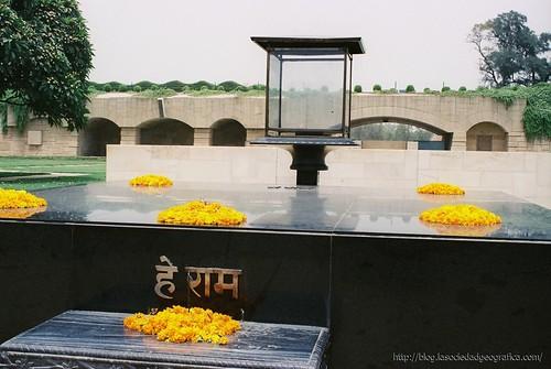 Memorial de Gandhi en Delhi. Foto: David Martín, 2004