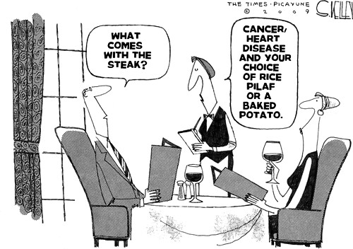 chronic disease and diet cartoon