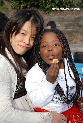 My daughter Uchindami (Glory) with our friend Keiko Momose, one of the people that are really helping us here