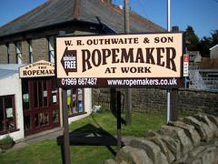 Ropemaker at Work, Hawes (Fishchap) Tags: uk england rope maker ropemaker