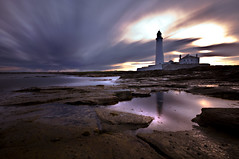 Pool of light (dan barron photography - landscape work) Tags: longexposure lighthouse seascape highlights northumberland whitleybay sigma1020 10stop nikond90
