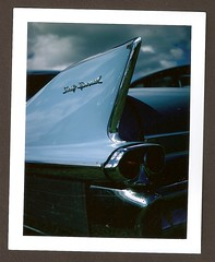 Cadillac - King of Fins.... (frontdrive34) Tags: camera polaroid australia rangefinder cadillac nsw newsouthwales bellows folder folding landcamera packfilm polaroidlandcamera instantfilm rangefindercamera polaroid103 bellowscamera fujifilmfp100c peelapartfilm frontdrive34