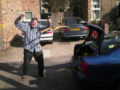 The wrath of Philip (pukkagen) Tags: car boot movingday philip middlesex removals brentford
