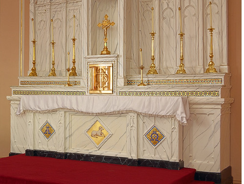 Saint Norbert Roman Catholic Church, in Hardin, Illinois, USA - tabernacle