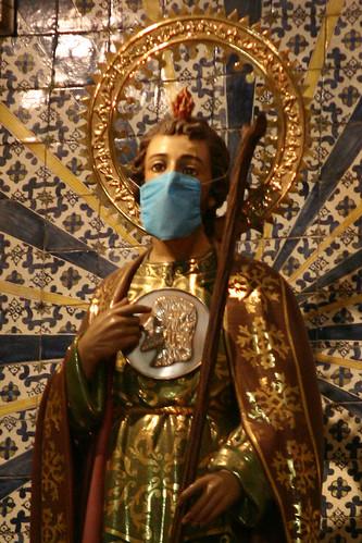 San Judas Tadeo con Cubre Bocas