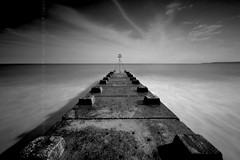 (Claire Hutton) Tags: uk longexposure sea england blackandwhite bw motion blur beach water concrete coast seaside movement waves blurred rush dorset waterblur groyne bournemouth boscombe ndfilter 10stop nd1000 nd110 bw110 leefilters 06ndgrad 09ndgrad nikond90bw