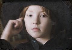 in dreams (lesbru) Tags: portrait texture hat hand velvet dreamy artlibre sognidreams