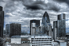 Day 44 Gherkin (Gregory Warran) Tags: world building london tower industry tourism monument skyline clouds canon moody district perspective creative tourists credit april 5d financial gherkin crunch 2009 hdr banks touristattraction lloyds banking touristattractions global 52 realism finance lucisart greatfireoflondon institutions londonist photomatix puddinglane project365 tonemapped hdrfromasinglerawfile gregorywarran shortsharpshot gregwarran talkinginwhispers seeinginpictures
