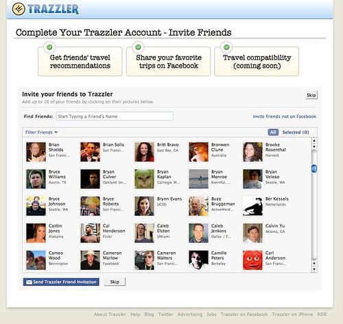 Trazzler - Invite Fb Friends