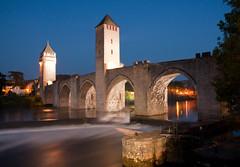 (-CyRiL-) Tags: longexposure monument lot pont nuit cahors midipyrénées valentré cyrilbkl departementdulot