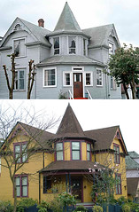 602 Princess Street - 1977/2009 (entheos_fog) Tags: houses heritage vancouver strathcona app thenandnow comparisons restorations heritagehouses v0030