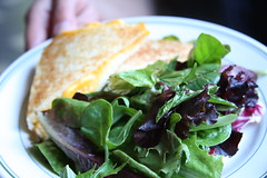 Elysian Cafe - grilled cheese and salad