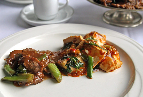 Oyster Beef and Ma Po Tofu