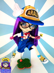 Blythe_Custom_Arale_Session02_01 (Sheryl Designs) Tags: doll dr blythe custom norimaki arale slump