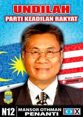 Poster Calon PKR Penanti by pendunkclanz