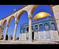 THE ROCK TEMPLE (GORKA VADERETRO) Tags: trip travel viaje blue sun azul temple israel nikon jerusalem mm 12mm polarizer angular cupula templo gorka 1224 palestina jerusalen d90 polarizador solazo mirantes gorkavaderetro gorkamirantes