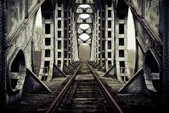 A bridge too far... (d_oracle) Tags: bridge abandoned metal train landscape nikon belgium rail brug steal limburg gellik spoorwegbrug d700 50524731n5365601e