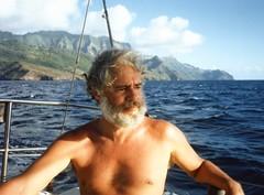 910409 Gene looking Nautical (rona.h) Tags: april 1991 cacique marquesas ronah oapou vancouver27