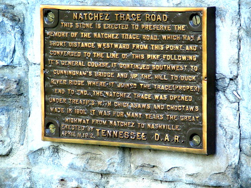 Old Natchez Trace marker