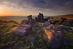 Remains of Elmet 1 (andy_AHG) Tags: sunset sky clouds rural landscape outdoors evening countryside rocks stones yorkshire scenic kinder lancashire boarder moorland saddleworthmoor nikond200 aldermanshill saddleworthphotobooklandscapes landscapespicked