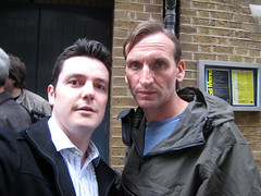 Christopher Eccleston and Me (TravelShorts) Tags: london doctorwho drwho heroes dollhouse thedoctor christophereccleston donmarwarehouse