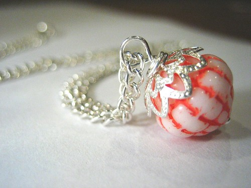 the argent (silvery) strawberry -- necklace