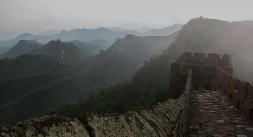The wall amongst the fog