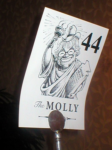 my table at the Molly dinner