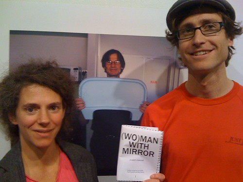louise and lucas with woman with mirror users manual