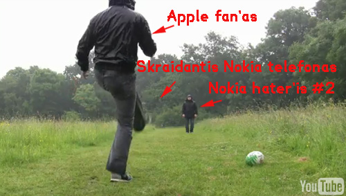 Nokia skraidantis telefonas ir pora apple fanų?
