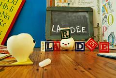Summer : Monday (Inhae Lee) Tags: chalkboard ickle handmadetoys wordblocks lardee mymilktoof polyerclaytoys